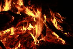 Fire flame ember burn Royalty Free Stock Photos