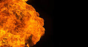 Fire flame explosion Stock Image