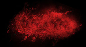 Fire flame explosion. On black background Royalty Free Stock Images