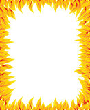 Fire flame, fire pattern. For text Stock Image