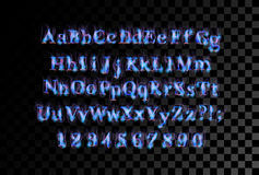 Fire flame font Royalty Free Stock Photo