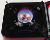 Fire flame from gas stove Royalty Free Stock Image