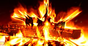 Fire, Flame, Heat, Hot, Log, Burn Stock Photo