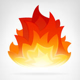 Fire flame heat vector element Royalty Free Stock Photos
