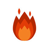 Fire flame hot burn vector icon warm danger and cooking yellow bonfire light blazing campfire. Fire flame hot burn vector icon warm danger and cooking yellow Stock Photo