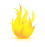 Fire flame icon Stock Photography