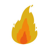 Fire flame icon Stock Photo