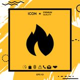 Fire, flame icon. Element for your design Stock Images