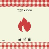Fire, flame icon. Graphic element for your design Royalty Free Stock Photography