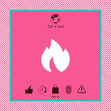 Fire, flame icon. Graphic element for your design Stock Photography