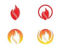 Fire flame icon logo vector.  Stock Photography