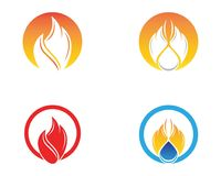 Fire flame icon logo vector.  Royalty Free Stock Photography