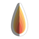 Fire flame icon over whit Royalty Free Stock Photos