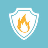 Fire flame icon. In round shape,  illustration Royalty Free Stock Photography