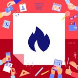 Fire, flame icon. Signs and symbols - graphic elements for your design Royalty Free Stock Photography