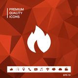 Fire, flame icon. Sings and symbols. Graphic elements for your design Stock Image