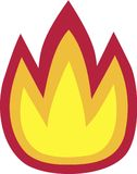 Fire Flame Icon Symbol. Vector Royalty Free Stock Image