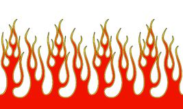 Fire Flame Illustration. Seamless Horizontal Fire Flame Illustration clip art vector Royalty Free Stock Image