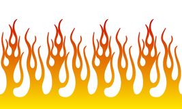 Fire Flame Illustration. Seamless Horizontal Fire Flame Illustration clip art vector Stock Images