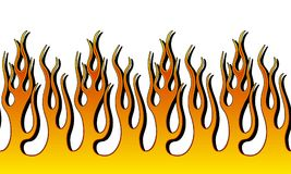 Fire Flame Illustration. Seamless Horizontal Fire Flame Illustration clip art vector Stock Photo