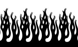 Fire Flame Illustration. Seamless Horizontal Fire Flame Illustration clip art vector Stock Image
