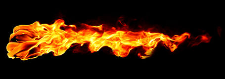 Fire flame isolated Stock Photography