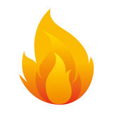 Fire flame isolated icon. Illustration design Stock Photography