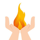 Fire flame isolated icon. Illustration design Royalty Free Stock Photography