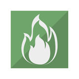 Fire flame isolated icon. Illustration design Stock Images