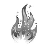 Fire flame isolated icon. Vector illustration design Royalty Free Stock Image