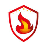 Fire flame isolated icon Royalty Free Stock Images