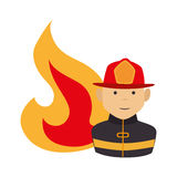 Fire flame isolated icon. Vector illustration design Royalty Free Stock Photography