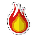 Fire flame isolated icon. Vector illustration design Stock Image