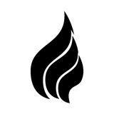 Fire flame isolated icon. Vector illustration design Stock Photography
