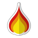 Fire flame isolated icon. Vector illustration design Stock Images