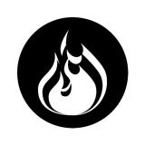 Fire flame isolated icon. Vector illustration design Royalty Free Stock Photo