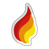 Fire flame isolated icon. Vector illustration design Royalty Free Stock Images