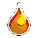 Fire flame isolated icon. Vector illustration design Royalty Free Stock Photos