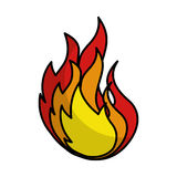 Fire flame isolated icon. Vector illustration design Stock Photos