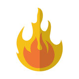 Fire flame lgiht icon Royalty Free Stock Image