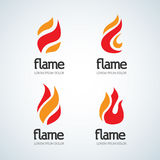 Fire Flame Logo design  template drop silhouette set. Creative Droplet Burn Elegant Bonfire Logotype Fire Logo concept . Fire Flame Logo design  template drop Stock Photo