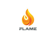 Fire Flame Logo design vector template. Stock Photography