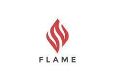 Fire Flame Logo design vector template. Abstract element Logotype concept icon Stock Images