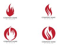 Fire flame logo template.  Royalty Free Stock Photos