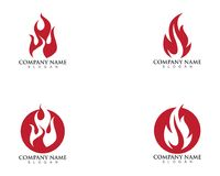 Fire flame logo template.  Royalty Free Stock Photography