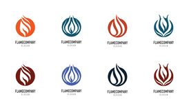 Fire flame Logo Template. Icon Royalty Free Stock Photo