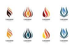 Fire flame Logo Template. Icon Royalty Free Stock Photos