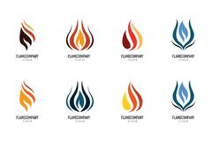 Fire flame Logo Template Royalty Free Stock Photos