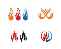 Fire flame Logo Template vector icon. Fire flame vector illustration design template flames car hot tribal art red isolated background symbol light collection royalty free illustration