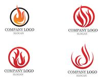 Fire flame Logo Template vector icon Oil gas and energy. Fire flame Logo Template vector icon Oil gas Royalty Free Stock Images